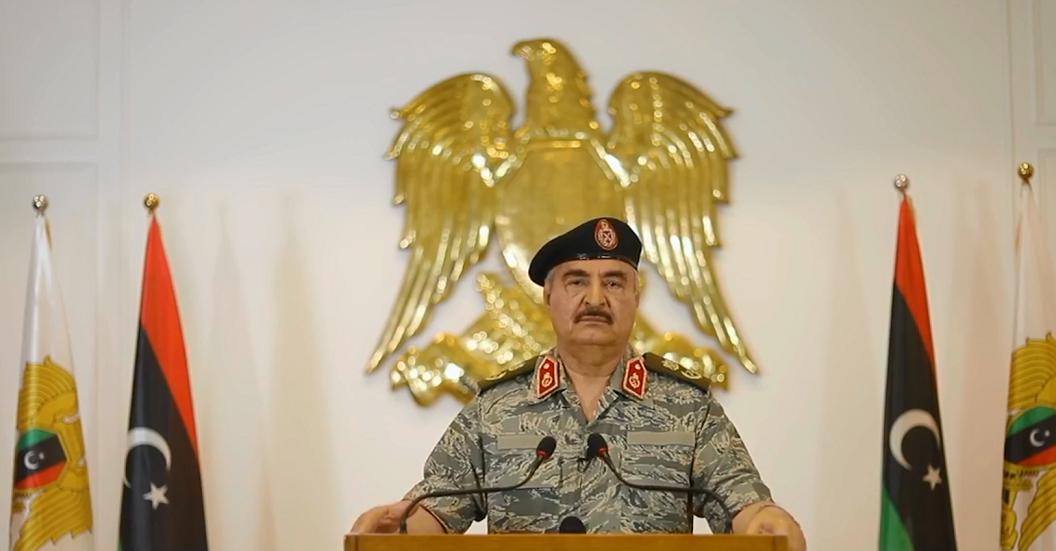 حفتر يعلن النفير العام لمواجهة أي قوات أجنبية ترسل إلى ليبيا