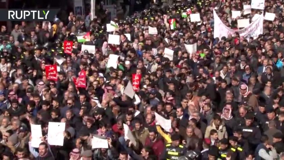مسيرة في عمّان تنديدا باتفاق الغاز الإسرائيلي