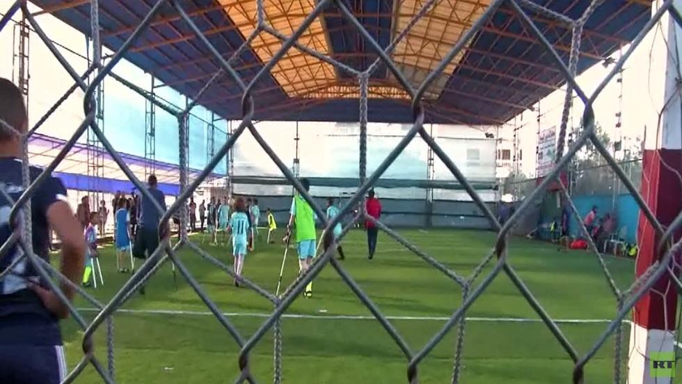 بطولة كرة القدم لمبتوري الأقدام في غزة