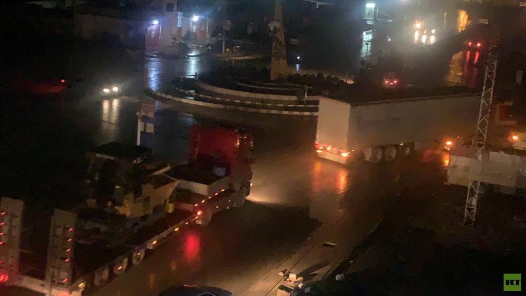 مراسلنا: وصول قافلة عسكرية للتحالف الدولي إلى القامشلي شرقي سوريا