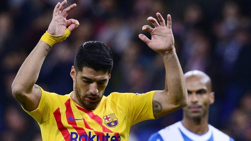 سواريز يعادل رقم بنزيما في الدوري الإسباني