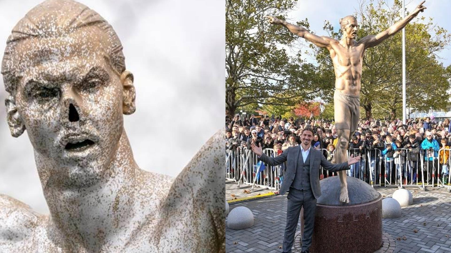 سلسلة التخريب المتعمد لتمثال زلاتان تصل لمراحلها القصوى (صورة)