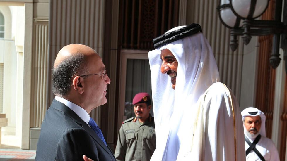 الرئيس العراقي يهاتف أمير قطر