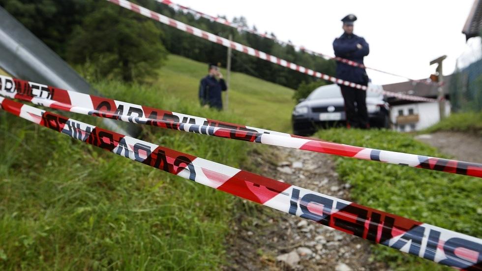 موقع حادث سير في إيطاليا - أرشيف