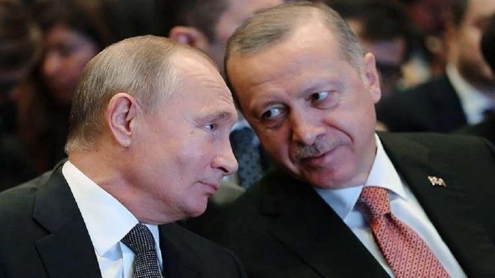 أردوغان يعلن عن زيارة بوتين تركيا الأربعاء لبحث القضايا الإقليمية