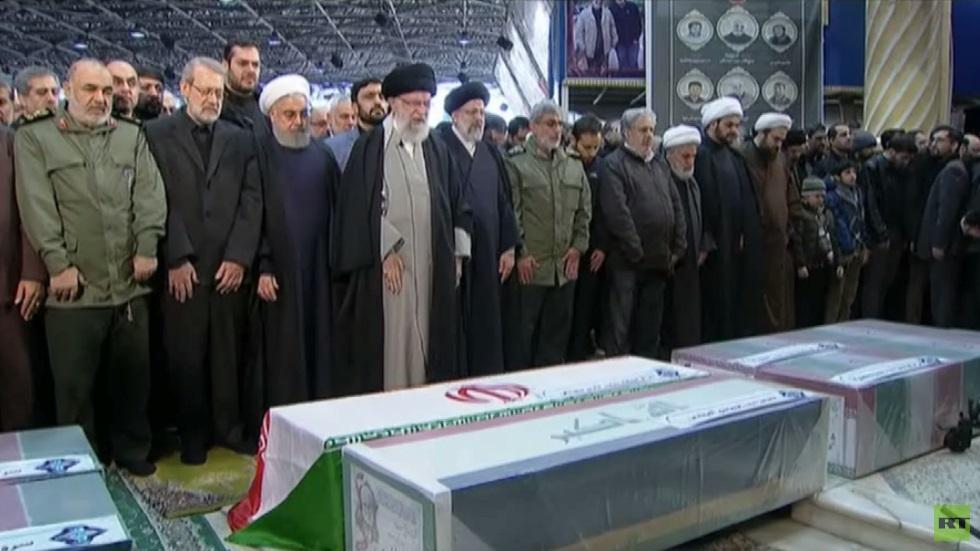 مراسم تأبين لسليماني والمهندس في طهران