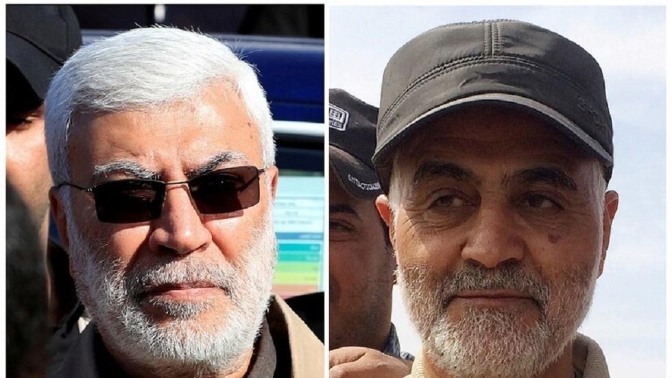فيديو.. صور لسليماني والمهندس قرب السفارة الأمريكية في بغداد