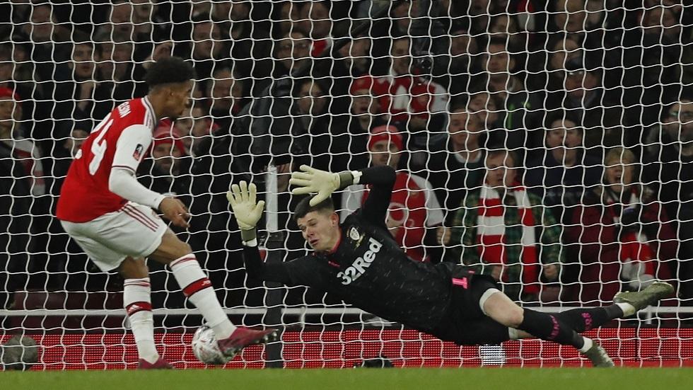 أرسنال يجتاز ليدز بصعوبة في كأس الاتحاد الإنجليزي