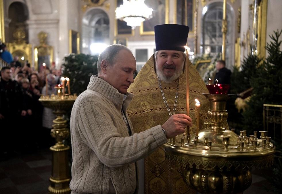 بوتين يهنئ الأرثوذكس بعيد الميلاد