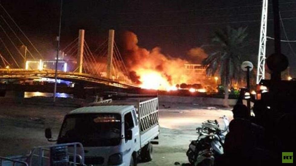 7 جرحى بينهم ضابط بإطلاق نار على المتظاهرين في الناصرية جنوبي العراق