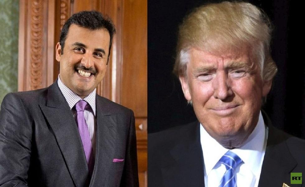 الرئيس الأمريكي يبحث مع أمير قطر الوضع في العراق وإيران
