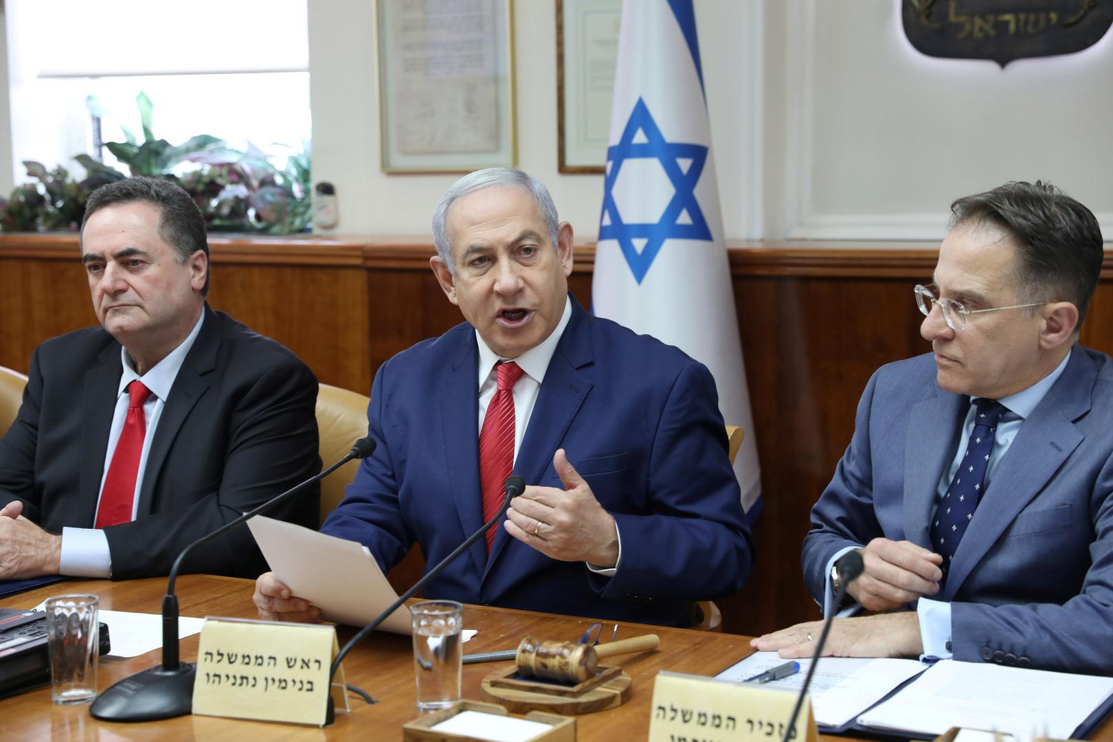 المجلس الأمني الإسرائيلي المصغر يبحث اليوم التوتر في الخليج