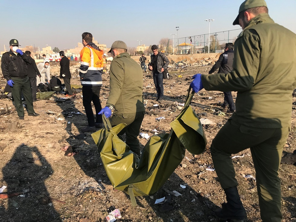 وزراة الخارجية الأوكرانية تكشف جنسيات قتلى الطائرة المنكوبة في طهران
