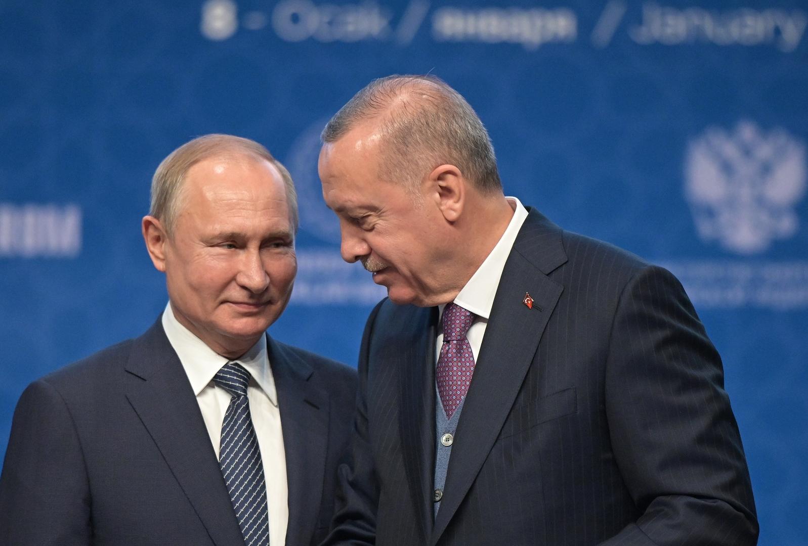 بوتين وأردوغان يدعوان أطراف الأزمة الليبية إلى إعلان هدنة اعتبارا من منتصف ليل 12 يناير