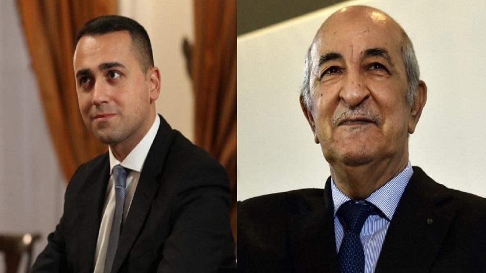 الرئيس الجزائري يستقبل وزير الخارجية الإيطالي ويبحثان الأزمة الليبية