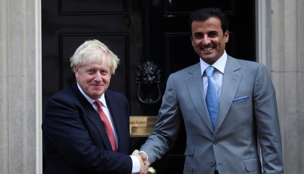 أمير قطر يبحث مع جونسون سبل إحلال الاستقرار في المنطقة