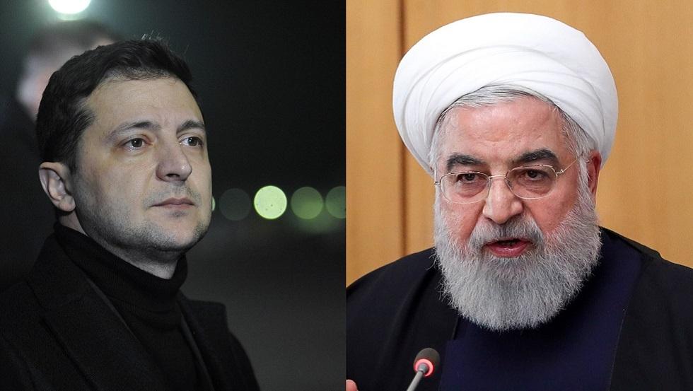 روحاني وزيلينسكي يتفقان على إجراء تحقيق دقيق في كارثة الطائرة الأوكرانية