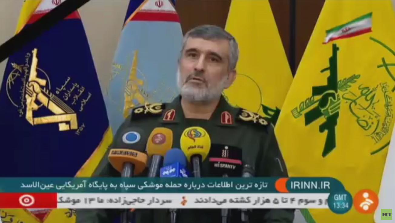طهران: قصفنا لعين الأسد بداية عمليات كبرى