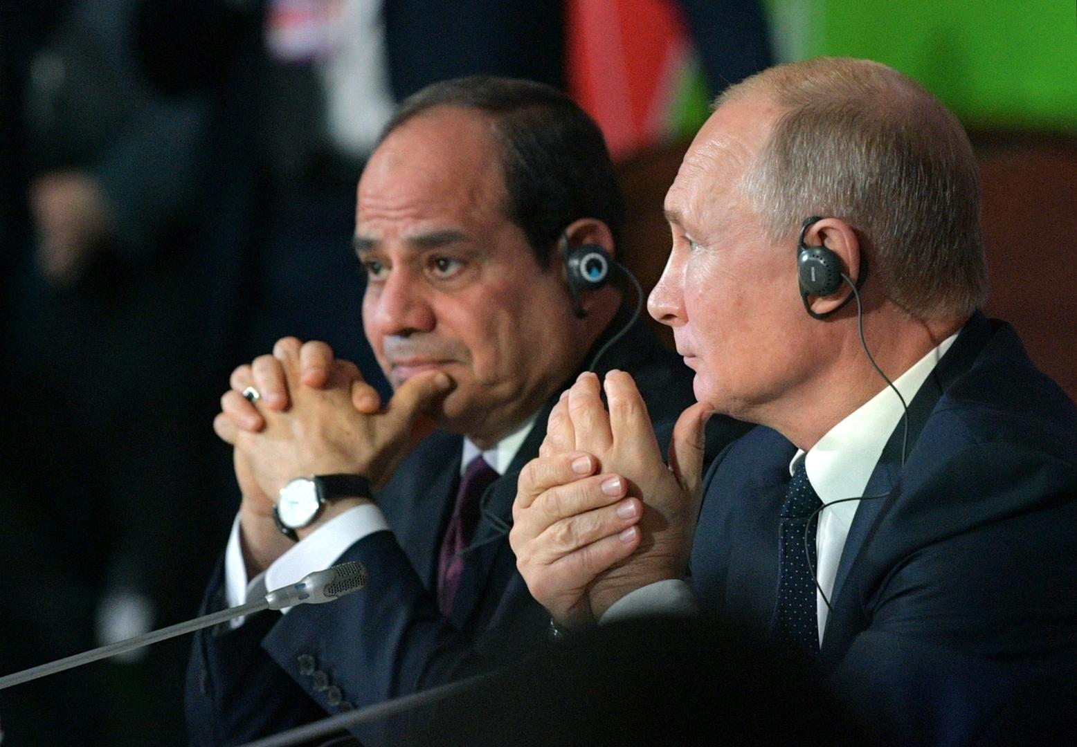 بوتين والسيسي يبحثان هاتفيا تطورات الملف الليبي