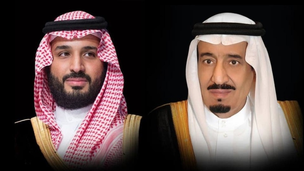 العاهل السعودي الملك سلمان بن عبد العزيز والأمير محمد بن سلمان بن عبد العزيز، ولي العهد نائب رئيس مجلس الوزراء وزير الدفاع
