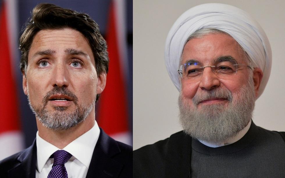 الرئيس الأيراني حسن روحاني ورئيس الوزراء الكندي جاستين ترودو
