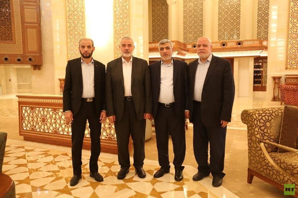 هنية في سلطنة عمان للتعزية بوفاة السلطان قابوس (صور)