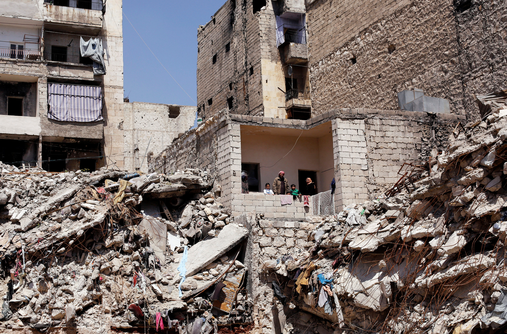 مبان مدمرة في حلب