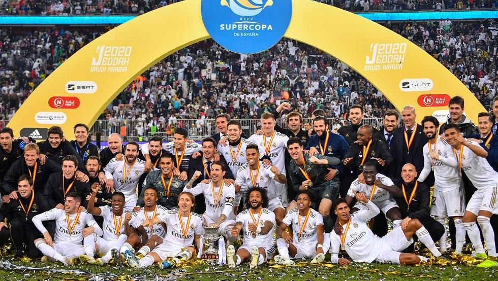 ريال مدريد يرفع كأس السوبر الإسباني في السعودية (فيديو)