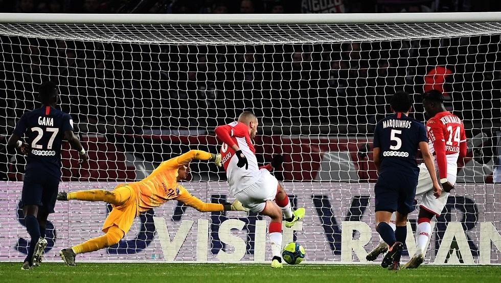سليماني ينقذ موناكو من الهزيمة أمام باريس سان جيرمان