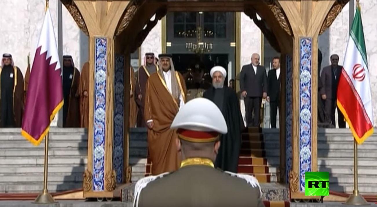مراسم استقبال أمير قطر في طهران