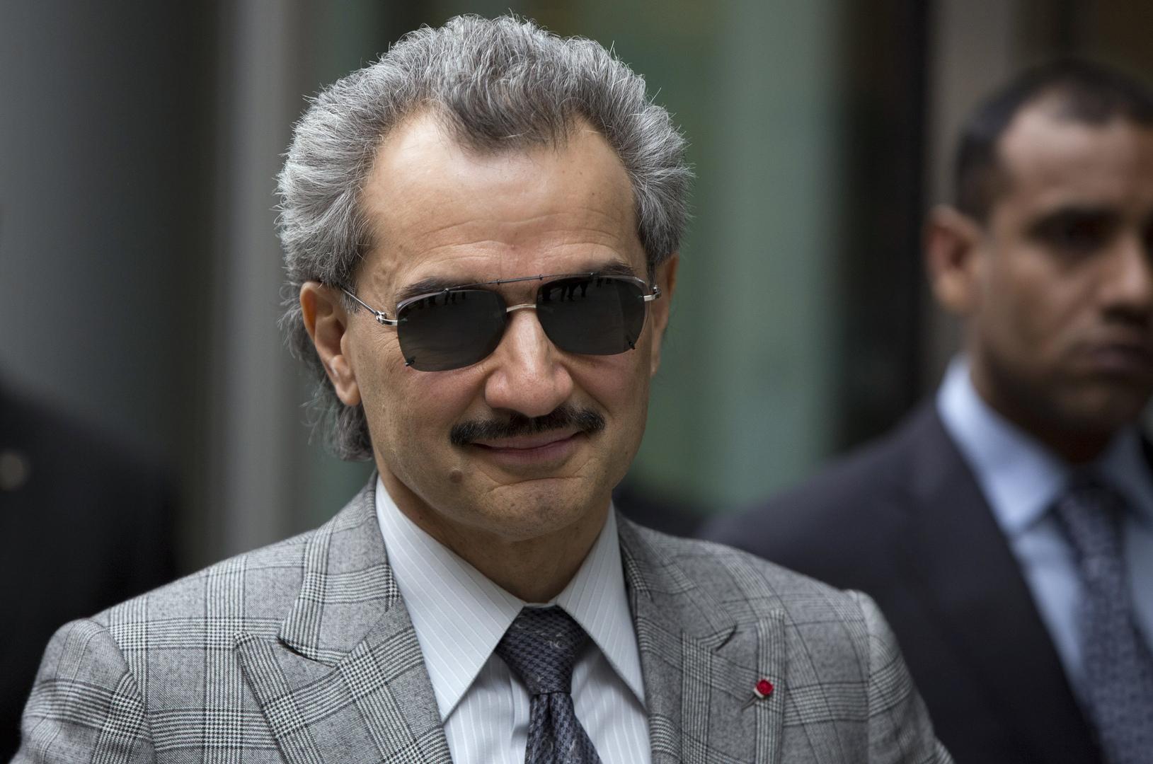 ورجل الأعمال السعودي المشهور، الأمير الوليد بن طلال.