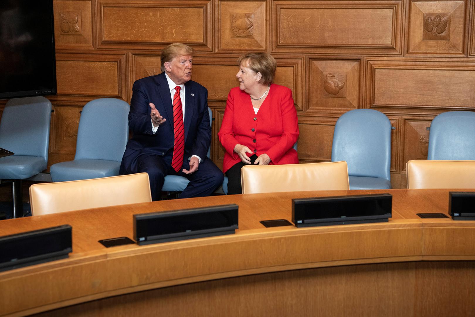 ترامب وميركل يبحثان الأمن في الشرق الأوسط والأزمة الليبية