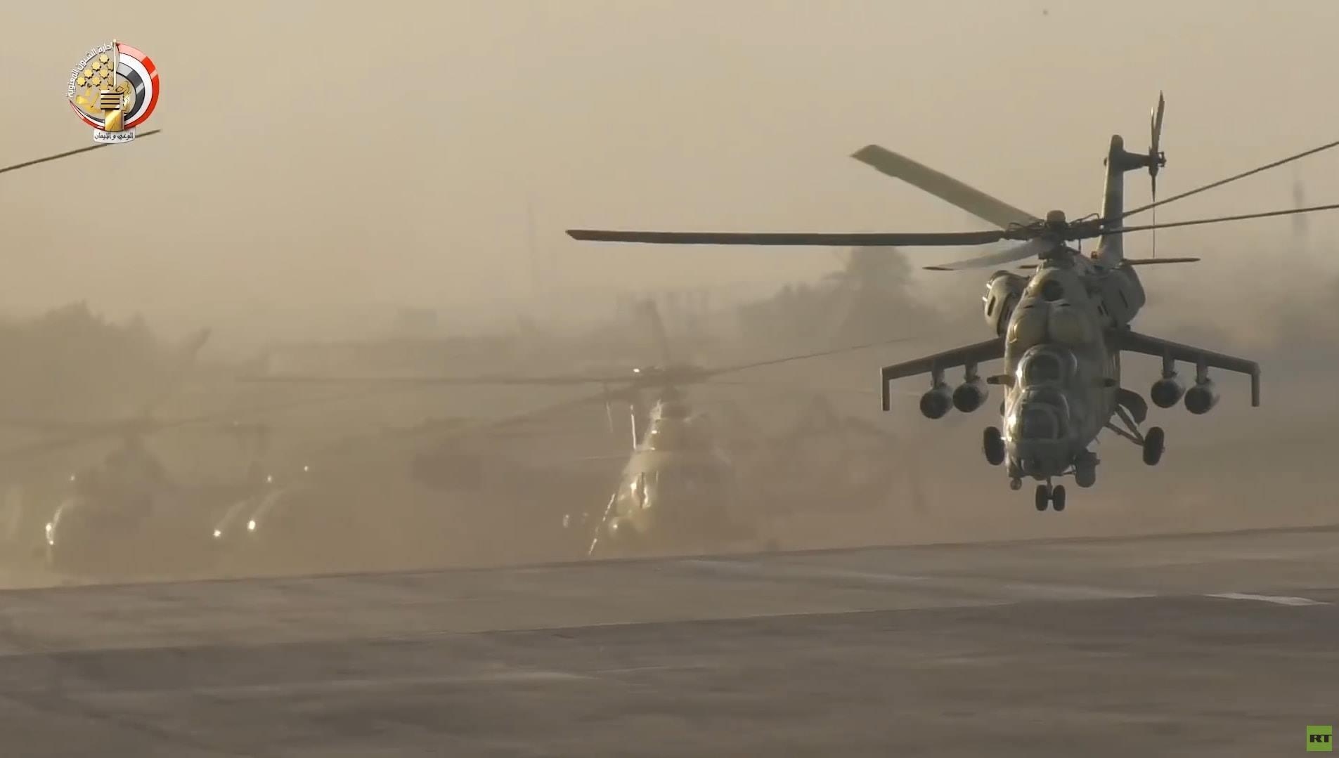 مروحيات ومقاتلات روسية متطورة تظهر لدى الجيش المصري (صور)