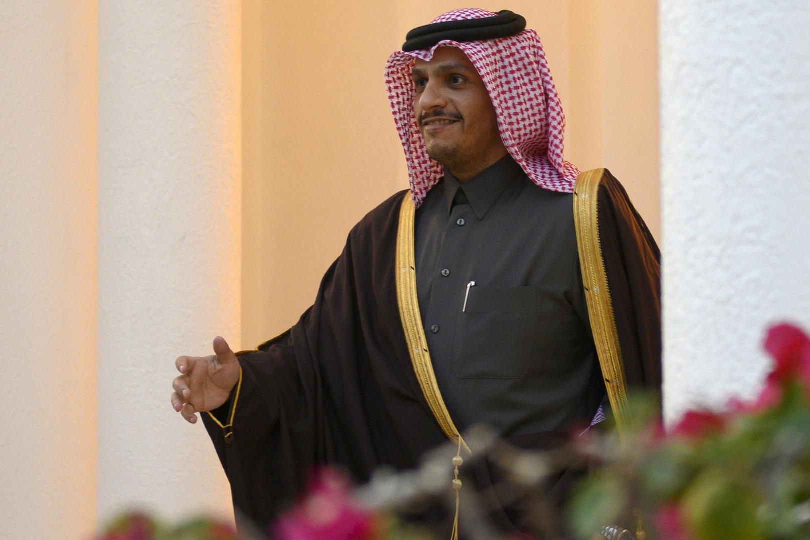 وصول وزير الخارجية القطري إلى بغداد