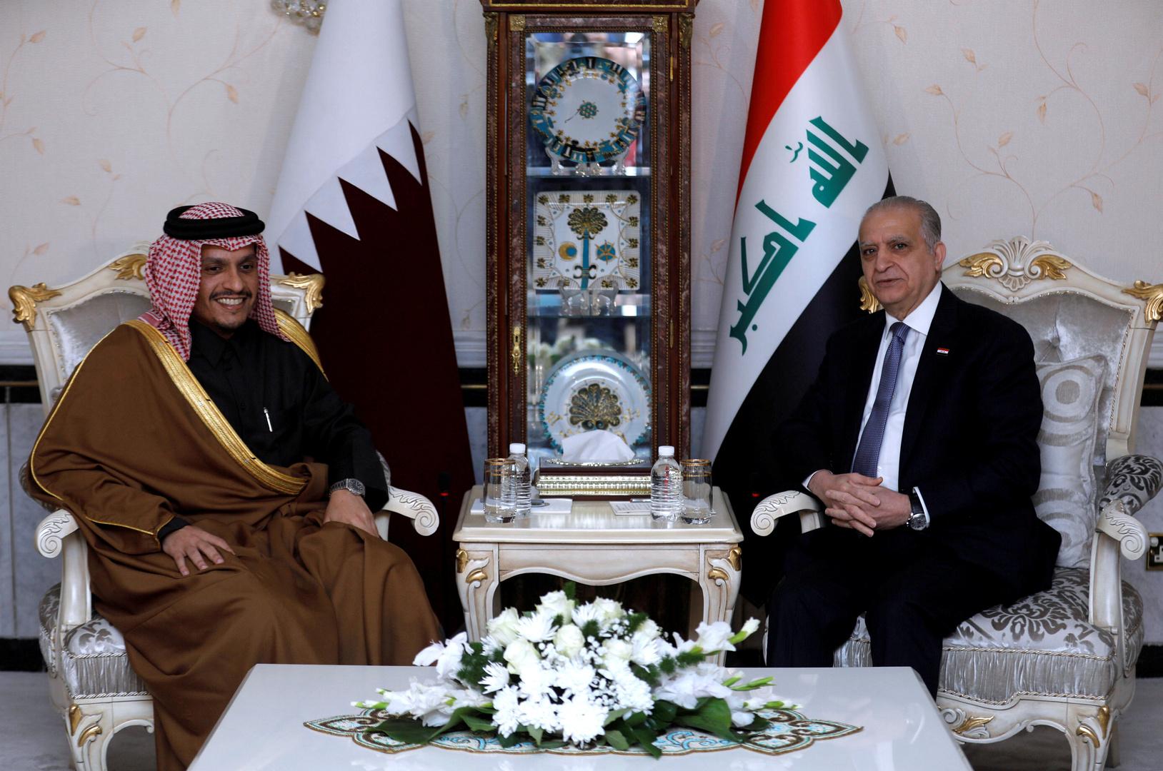 وزير الخارجية العراقي يلتقي نظيره القطري في بغداد