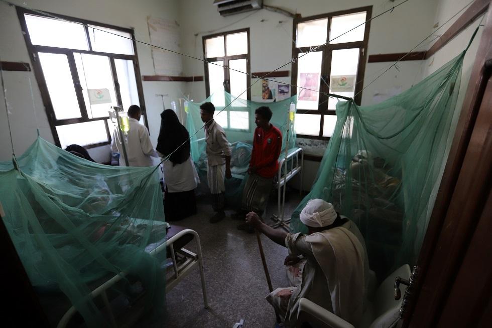 مرضى في مستشفى باليمن