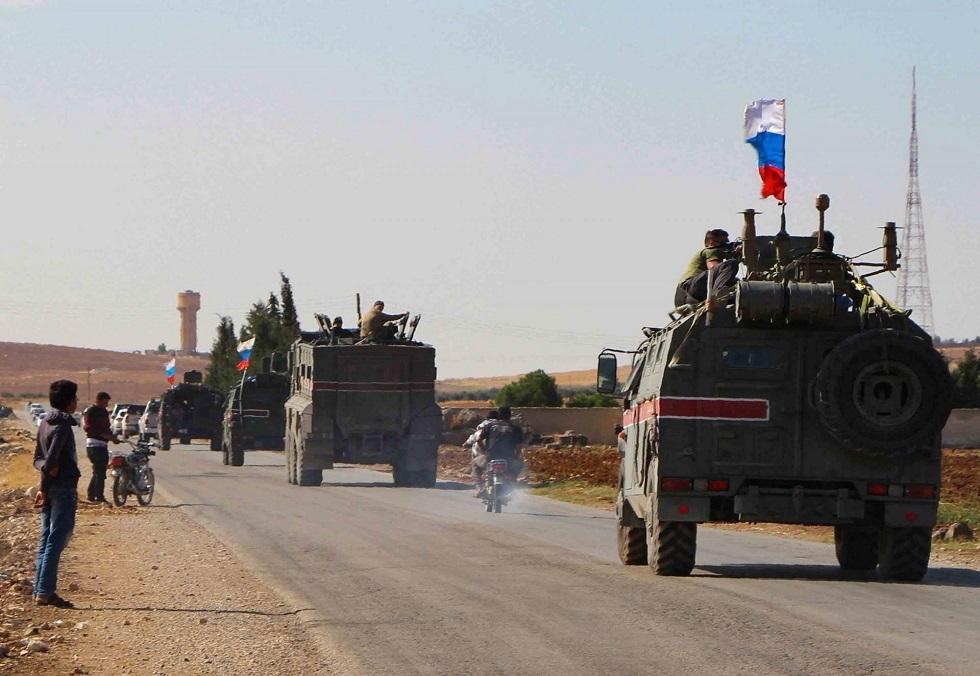 رتل عسكري روسي في شمال شرق سوريا