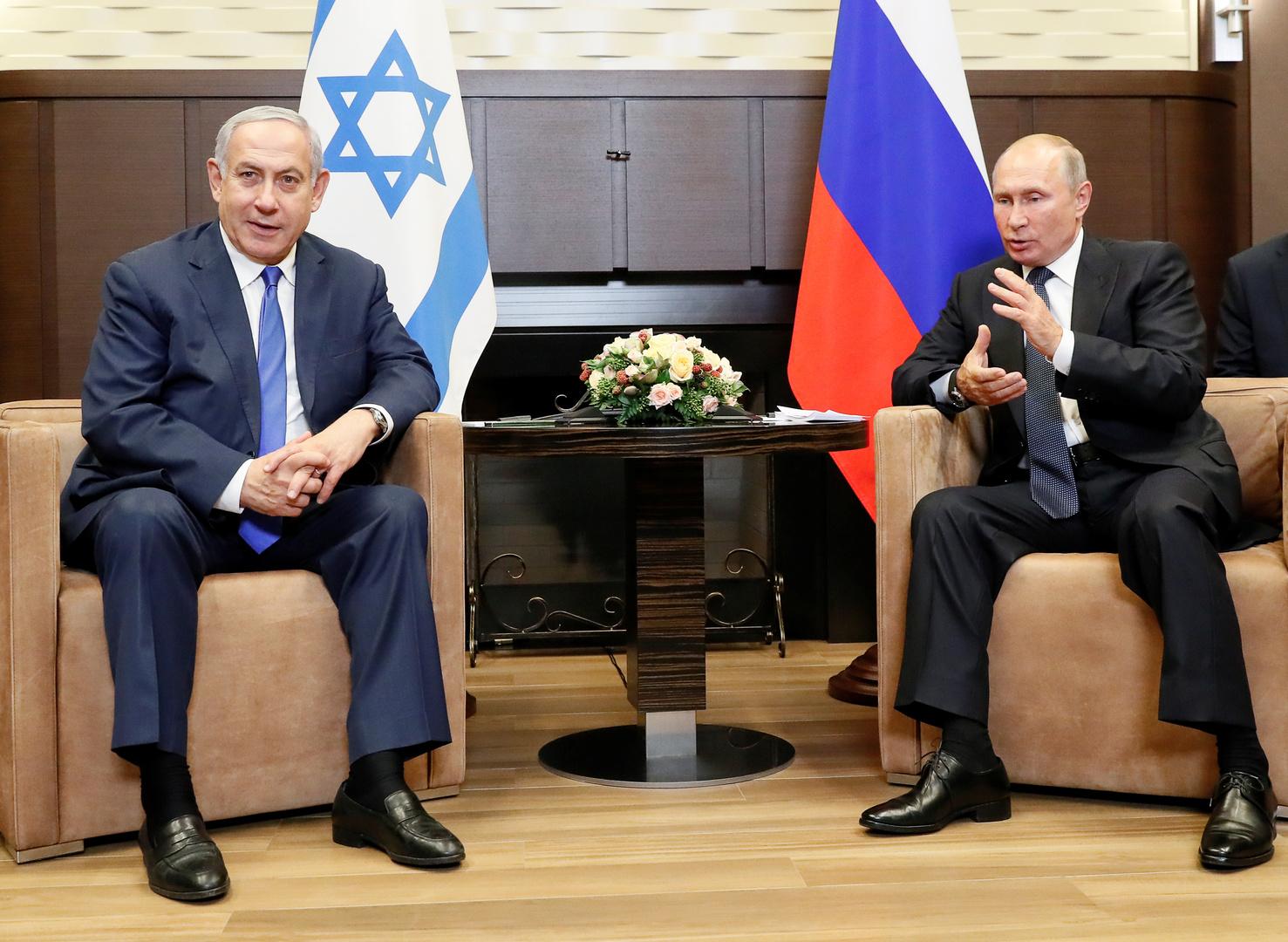 بوتين يبحث مع نتنياهو في اتصال هاتفي التطورات الإقليمية