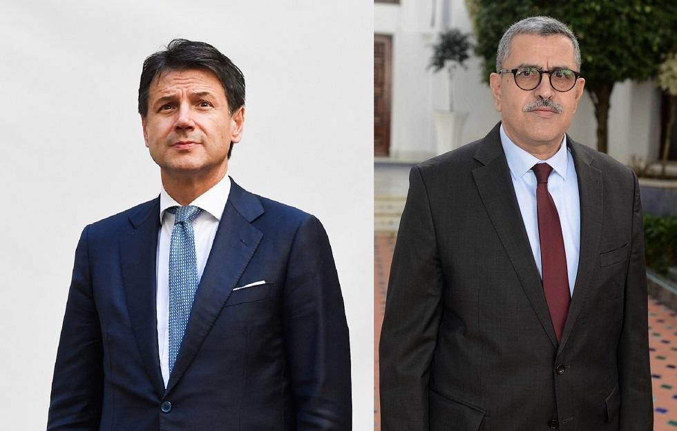 الوزير الأول عبد العزيز جراد و رئيس الوزراء الإيطالي، جوزيبي كونتي