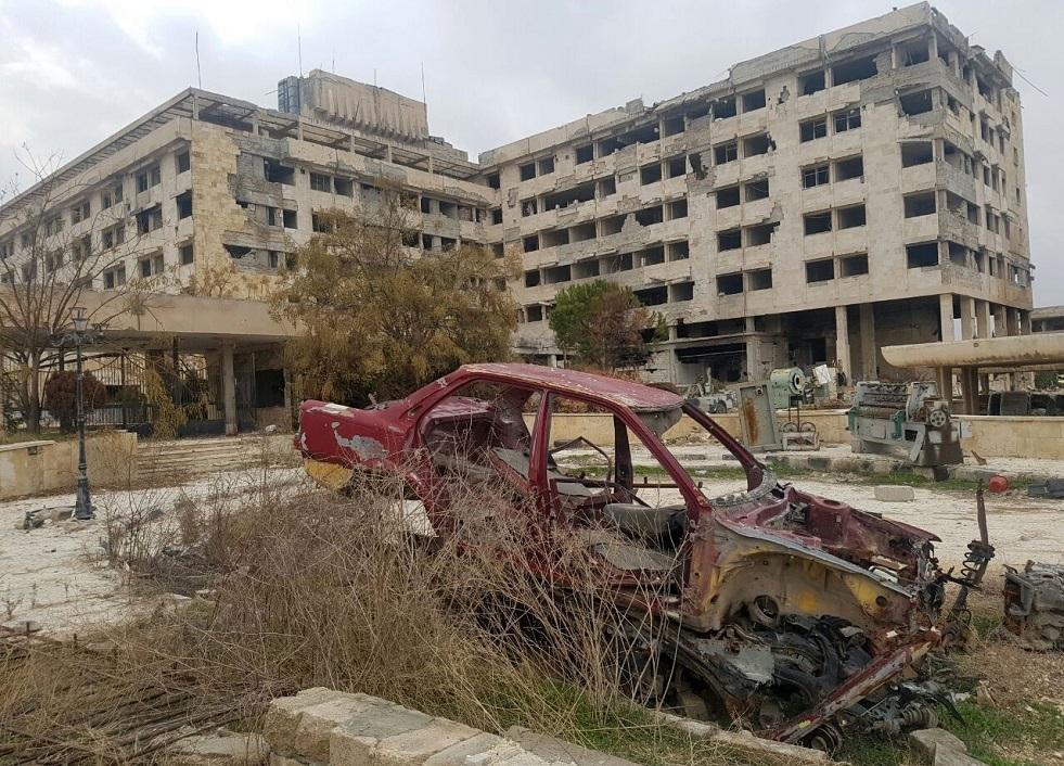 صورة أرشيفية لسيارة محترقة في شمال سوريا