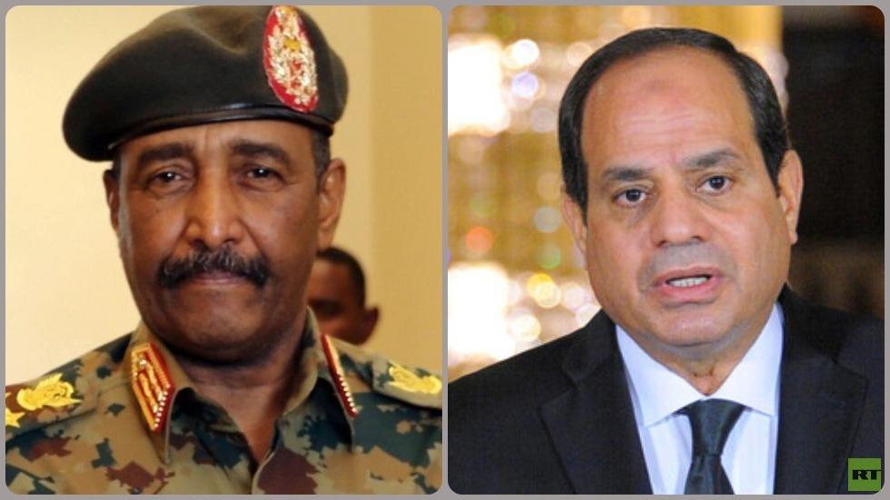 الرئيس المصري عبد الفتاح السيسي ورئيس المجلس السيادي في السودان الفريق أول ركن عبد الفتاح البرهان
