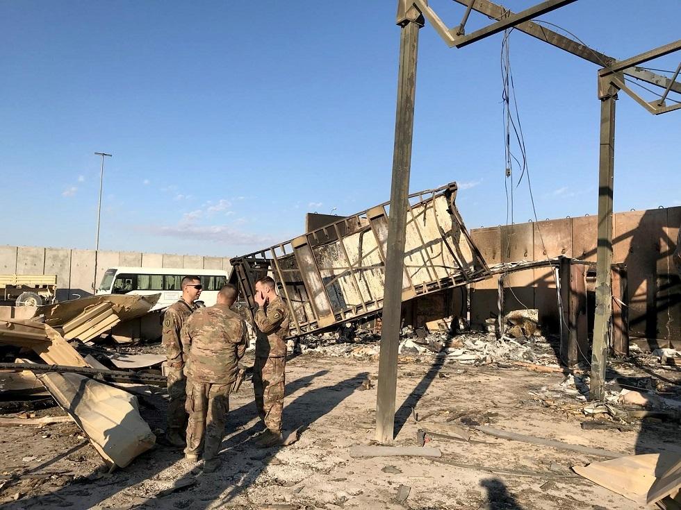 جنود أمريكيون في قاعدة عين الأسد المستهدفة