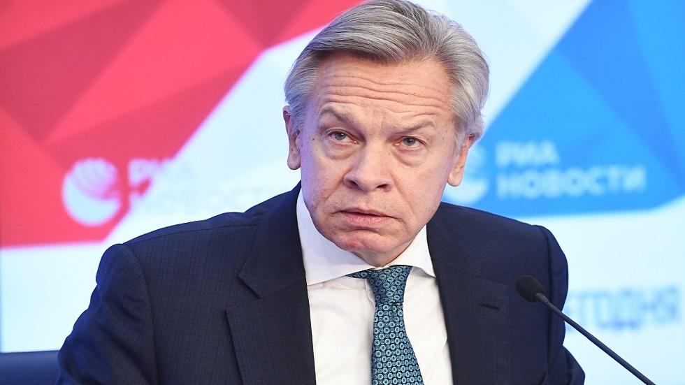 أليكسي بوشكوف، رئيس اللجنة المؤقتة لمجلس الاتحاد الروسي لشؤون السياسة الإعلامية والعلاقات مع وسائل الإعلام
