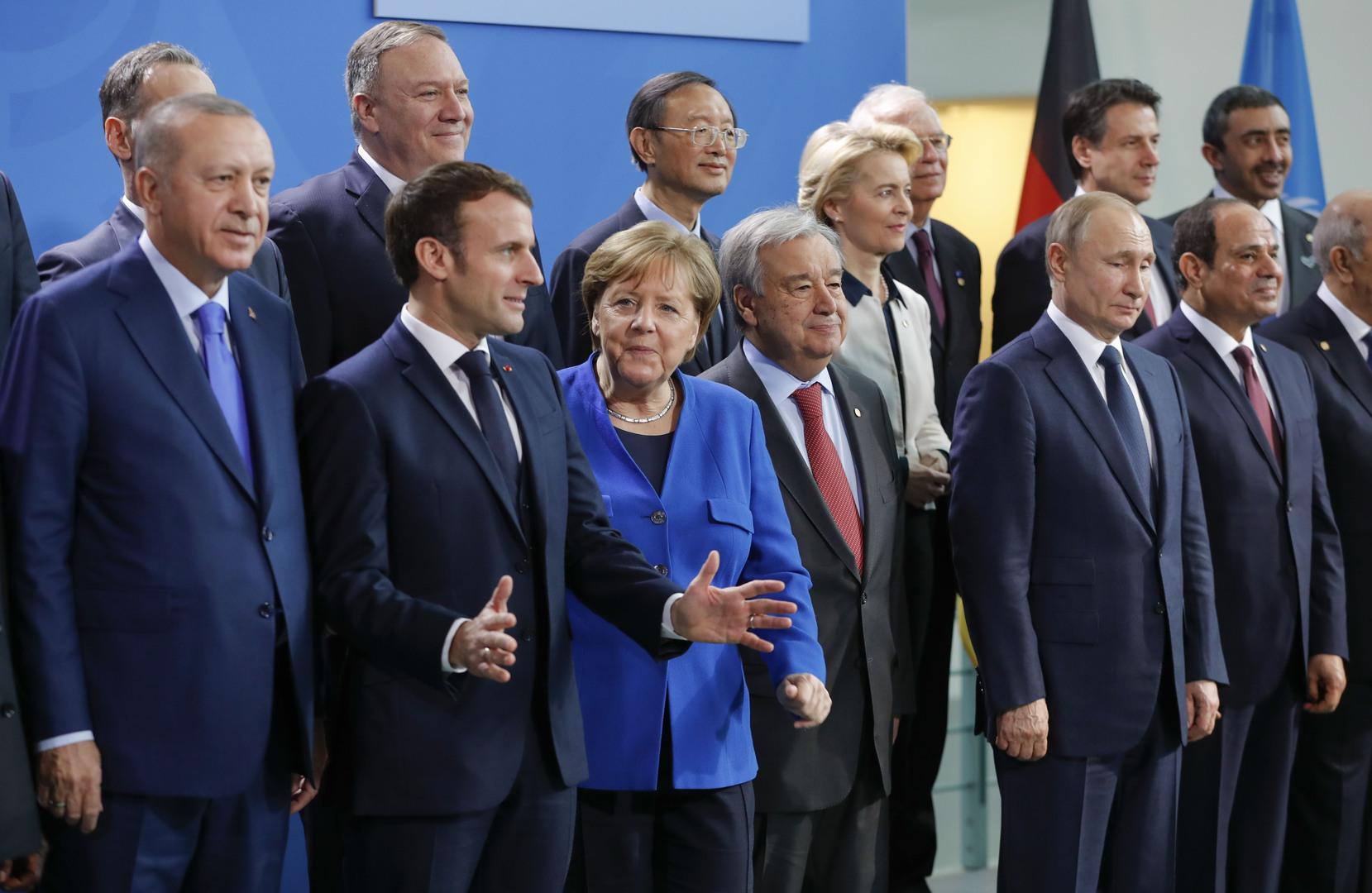 مشاركون في مؤتمر برلين حول ليبيا (19 يناير 2020).