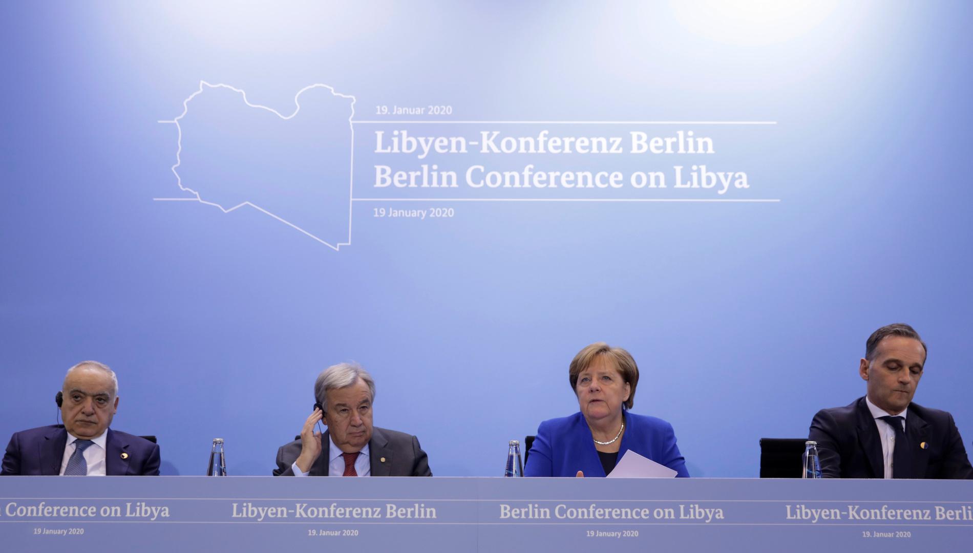 مؤتمر صحفي للإعلان عن نتائج مؤتمر برلين حول ليبيا