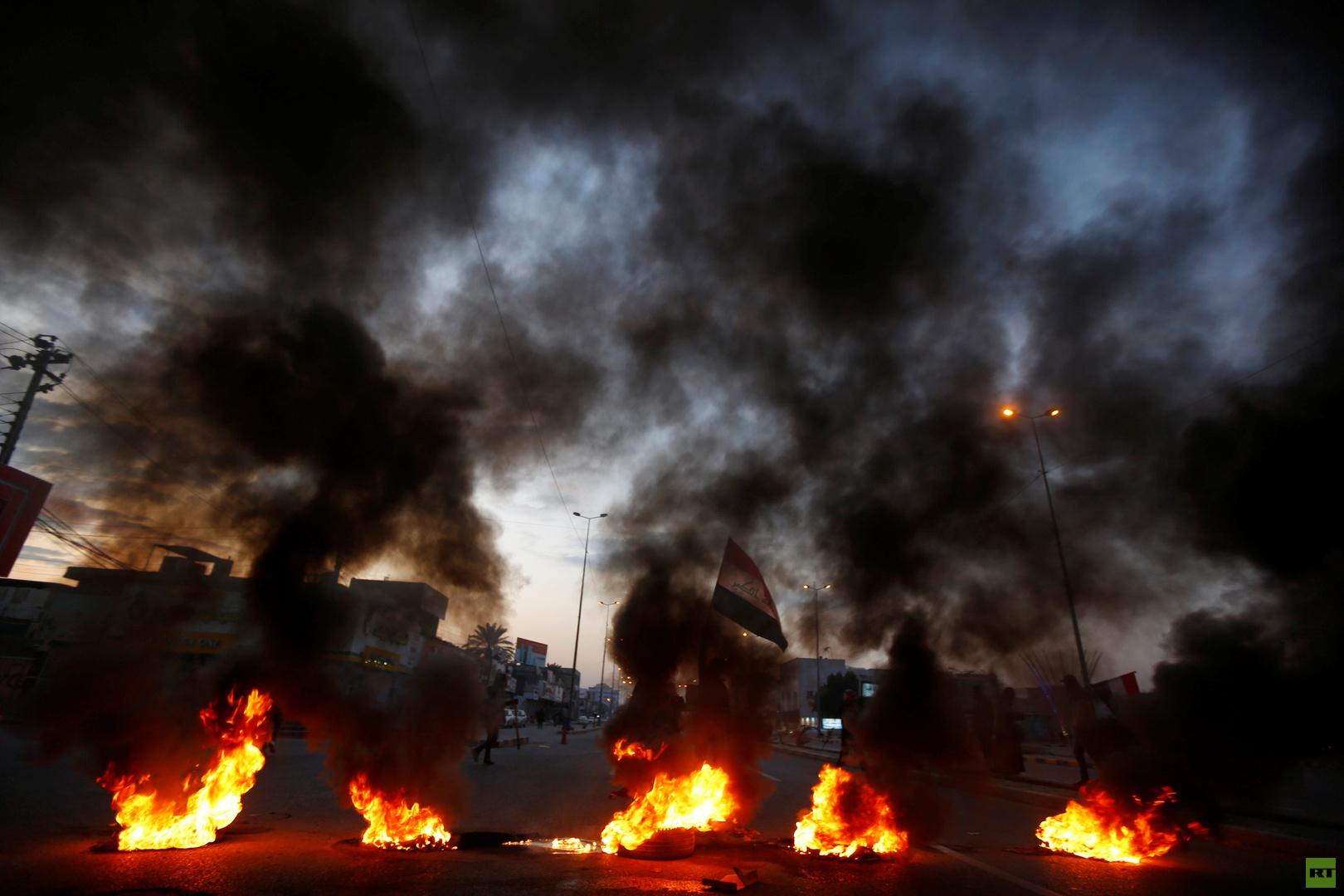 السلطات تفتح طرق بغداد بعد إغلاقها من قبل محتجين