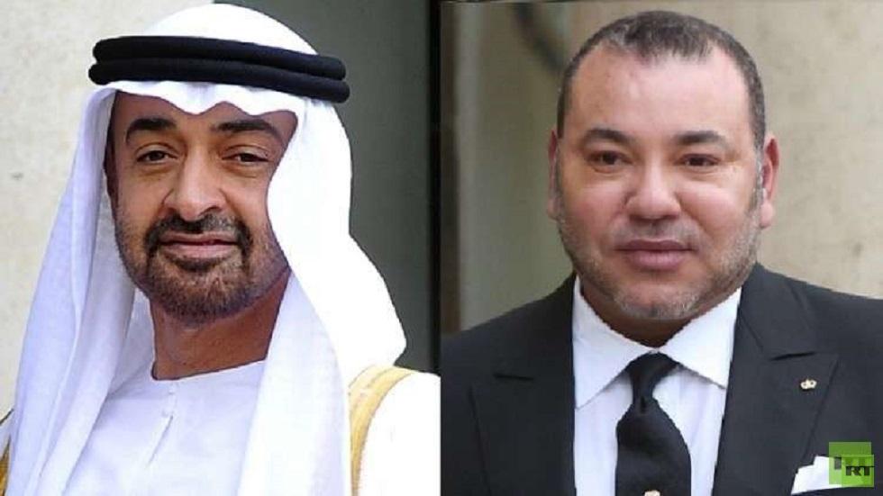 محمد السادس يزور محمد بن زايد في مقر إقامته بالمغرب