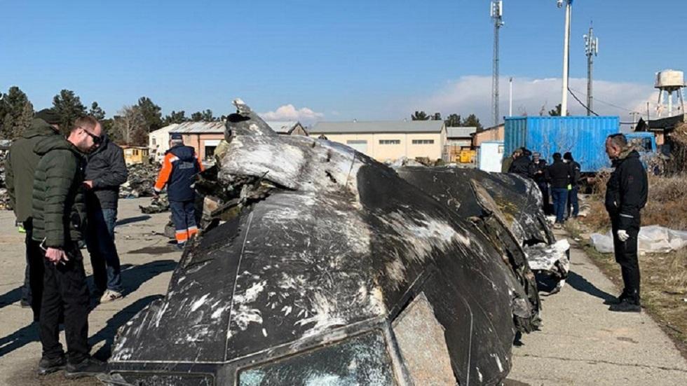 الطائرة الأوكرانية المنكوبة في إيران