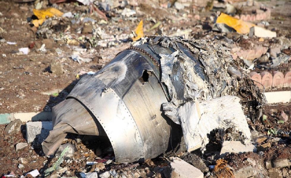 حطام الطائرة الأوكرانية في طهران