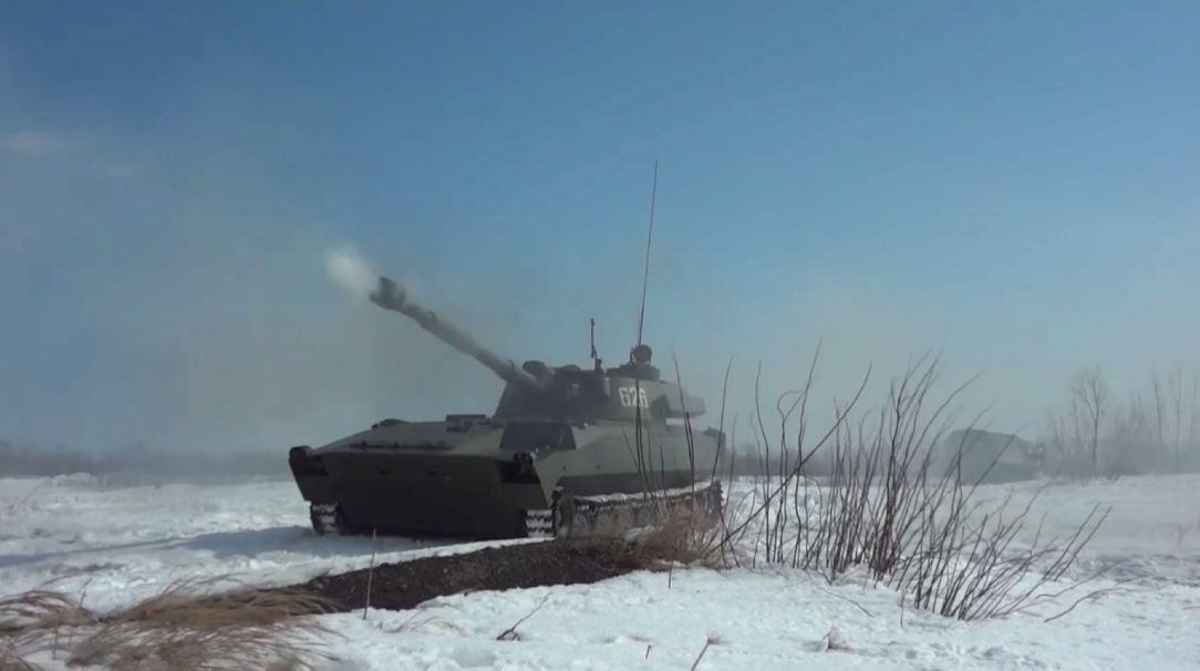 بالفيديو..تدريبات بالذخيرة الحية للبحرية الروسية بمدافع